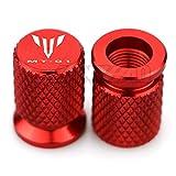 JDDRCASE Puerto de Aire de la válvula de neumático de la Motocicleta Tapa del Tallo de la Cubierta del Tallo Accesorios de Enchufe para Yamaha MT01 MT-01 (Color : Rojo)