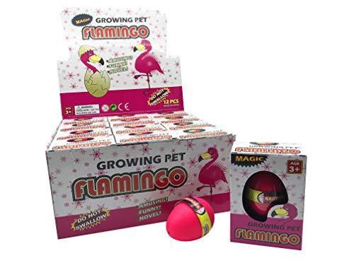 JustRean Toys Magisches Flamingo-Ei | 1x Flamingo aus dem rosa Schlüpf-Ei | pink Magic Growing Egg