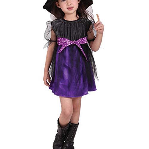 Disfraces de la Etapa de la Infantiles Disfraces de Halloween, Traje de Cosplay de Bruja Infantil
