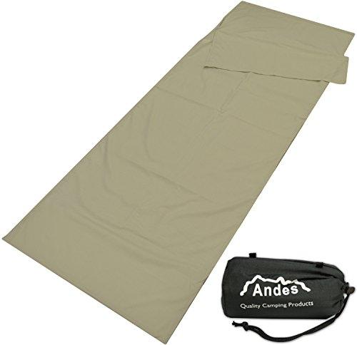 Andes - Doublure pour sac de couchage rectangulaire - pour camping - polycoton