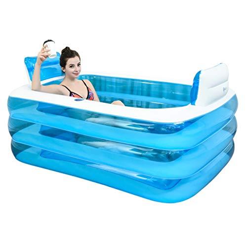 Aufblasbare Pools Aufblasbare Badewanne Spa Badewanne Verdickte Erwachsene Badewanne Strandbadewanne Barrel Doppelbadewanne Faltbare Badewanne PVC+ Fußpumpe Schwimmbecken