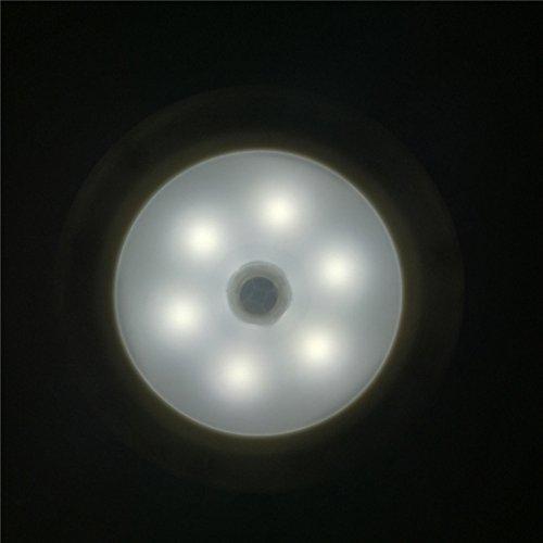 Biubiuji Aplique Sensor De Movimiento Luz De Noche Led Detector Infrarrojo Del Cuerpo Humano El Candelabro De Pared Pasillo Pasillo Escaleras Depot Baño Baño Niños,Blanco
