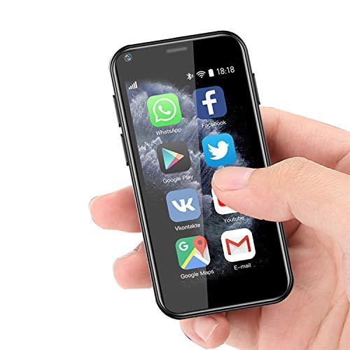 Super Small Mini Smartphone 3G Dual SIM Mobile Phone 1GB RAM 8GB ROM Android 6.0 Unlocked Kids Phone Pocket Cellphone (Black)