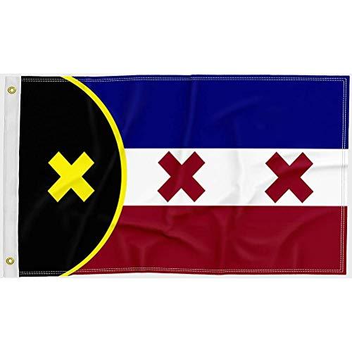 Dan&Dre 90 x 150 cm Bandera Premium para Bandera de Lmanburg Doble Cara Impreso Poliéster L'Manberg Bandera Interior Exterior Decoración