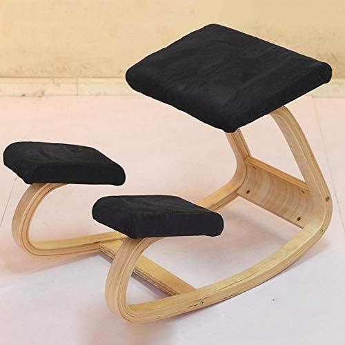 Huifang Corrective chair QFFL jiaozhengyi Schaukelstuhl Kinder Korrektur Haltung Computer Stuhl Büro Massivholz Schaukelstuhl Mehrfarbig Optional (Farbe   Schwarz