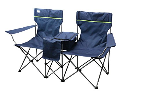 bel-sol Faltstuhl Campingstuhl Doppelsitzer 2er Faltbank Love SEAT