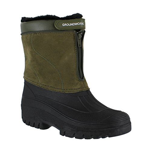 GroundWork LS88 Mens Mucker Stable Yard Waterproof Winter Snow Zip Boots...