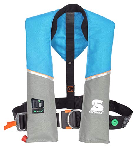 Secumar, automatische Rettungsweste, Ultra 170 Harness ocean / hellgrau / orange