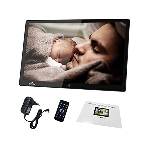 Miracle Digital 12 inch Digital Photo Frame with HD LED Electronic Music Video Album SD/USB Support with Remote Control (Black)