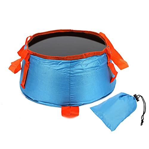 Pisamhid Cuenco plegable para exterior, redondo, plegable, para camping, con bolsa, portátil, para el lavabo, bidón de agua, camping, pesca, fiesta, jardín (29 cm x 25 cm x 14 cm)