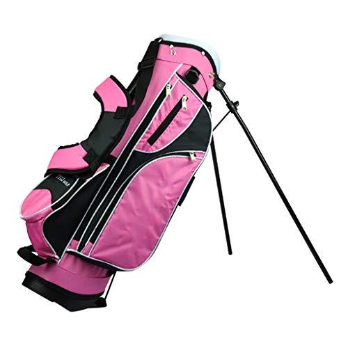 CHENG BAG Golftasche, Im Freien Regendicht Hohe Kapazität rutschfest Gummibasis 4 Unabhängige Buchsen für Unisex Kinder Anfänger (Farbe : Rosa, größe : 76 * 22 * 28cm)