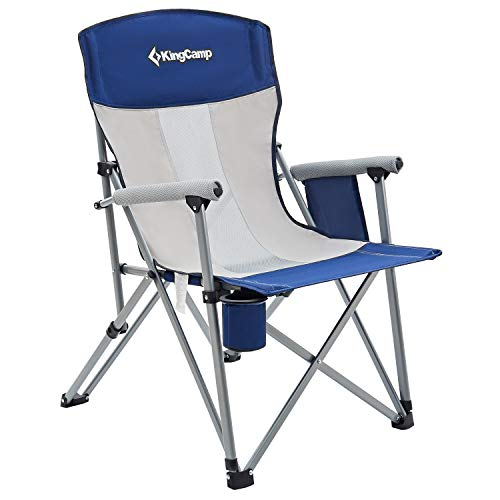 KingCamp Camping Chair Hard Arm Folding Camp Chair High Back Ergonom Outdoor Sports Chair for Adults...