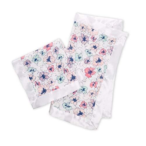 aden + anais Secruity Blanket; Satin Trim; Trail Blooms; 2-Pack