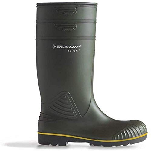 Dunlop Acifort Heavy Duty Stivali di Gomma, Verde, EU 49