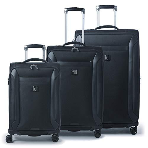Concept One Heritage Classic 3 Pc Luggage Set, Black