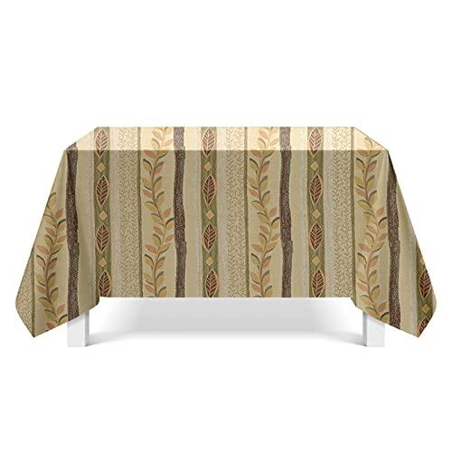 YDyun Mesa de Comedor Lavable Cubierta de Lino de Tela con Mapa de Textura de Estilo Popular