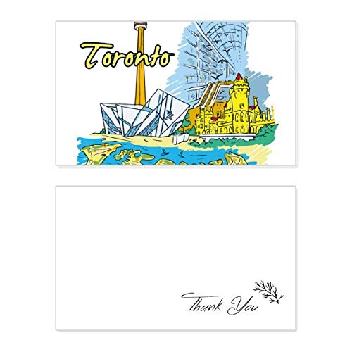 Canada Flavor Toronto Scenery Landmark Thank You Card Birthday Wedding Business Message Set