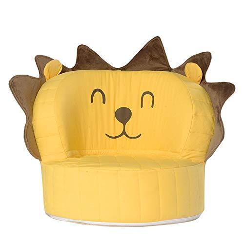 YONGJUN SillóN Infantil Espuma Anti-Collision Cómodo y Transpirable removible y Lavable for niños Sillón de sofá Asiento de Juguete-for bebés Mayores de 12 Meses (Color : Yellow)