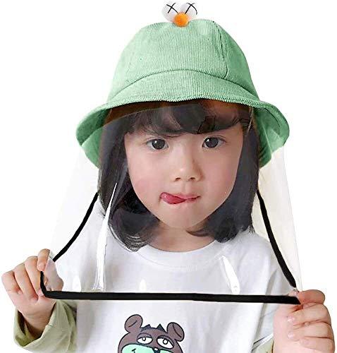 Syxfckc 2 in 1 Kinder Hut ist von hoher Qualität und langlebig, umweltfreundliche Baumwolle, wasserdicht, staubdicht, Anti-Verschleiß, genießen die Sommersonne (Color : Green)