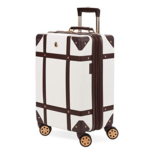 SWISSGEAR 7739 Trunk, Hardside Spinner Luggage, Carry-On - White