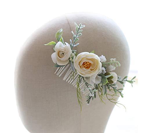 FIDDY898 Flower Crown Halo Floral Headpiece Festival Wedding Hair Wreath Photo Hair Prop haircomb
