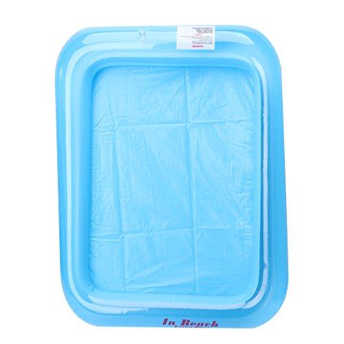 smallJUN Sandkasten-Aufblasbarer Sandkasten Schloss Sand Tisch Kinder Kinder Indoor Spiel Sand Schlamm Spielzeug, Blau