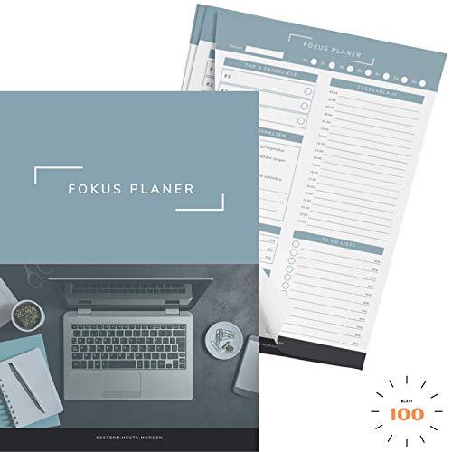 gestern.heute.morgen | Produktivitätsplaner im praktischen A4 Format (100 Blatt)
