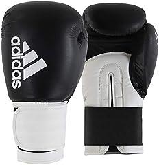 adidas Hybrid 100-schwarz/weiß 10 oz adiH100 Guantes de Boxeo, Unisex Adulto, Negro/Blanco, 300 ml
