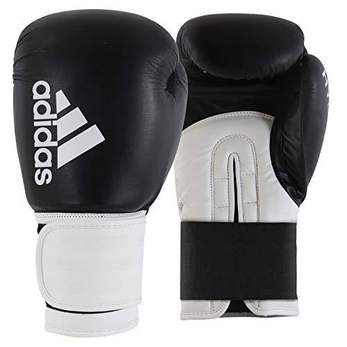 adidas Erwachsene Hybrid 100-schwarz adiH100 Boxhandschuhe, schwarz/weiß, 12 oz