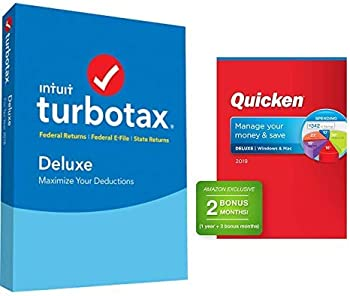 TurboTax Deluxe Plus State 2018 Tax Software + Quicken Deluxe Software