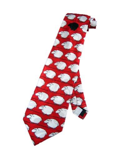 Fratello Männer schwarz Schaf lustig Krawatte - rot - Einheitsgröße