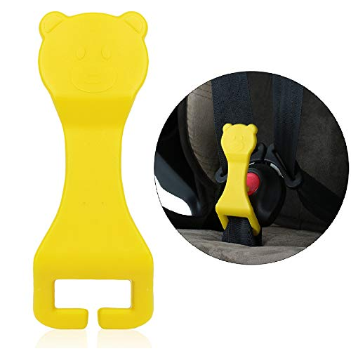 Bear Buddy Unbuckle Assistant Easy Buckle Release Aid for Children and Parents to Unbuckle (Yellow)