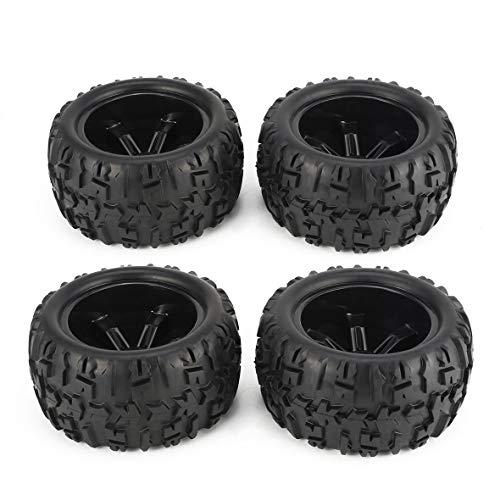 Heaviesk 4 Stücke 150mm Felge und Reifen für 1/8 Monster Truck Traxxas HSP HPI E-MAXX Savage Flux Racing RC Autozubehör