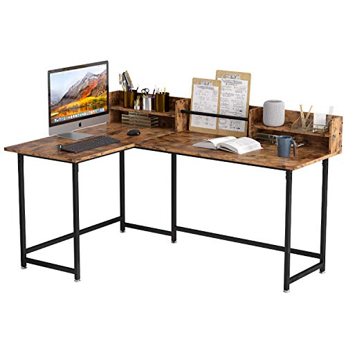 corner table for offices IRONCK L Shaped Desk Computer Corner Table 65.3