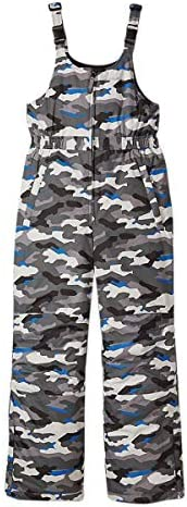 Eddie Bauer Snow Bib for Boys and Girls Waterproof Insulated Ski Overalls Grey Blue Camo Small product image
