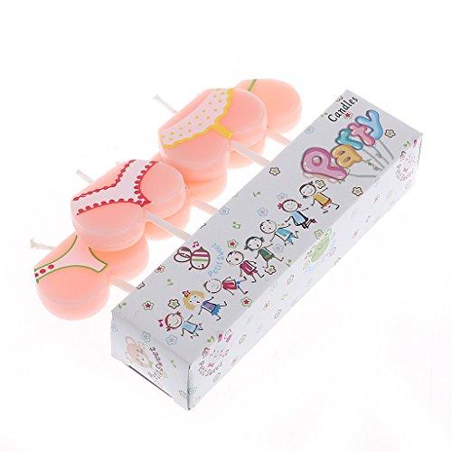 S-TROUBLE 5Pcs Cake Topper Bikini de Dibujos Animados Buttom Candles Fiesta de cumpleaños Decoración navideña