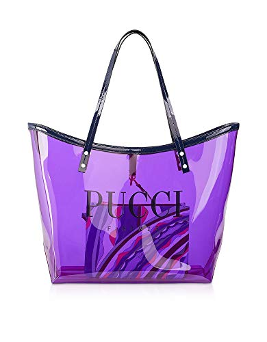 Emilio Pucci Luxury Fashion Damen 9RBC539R080A09 Violett Pvc Tote | Jahreszeit Outlet