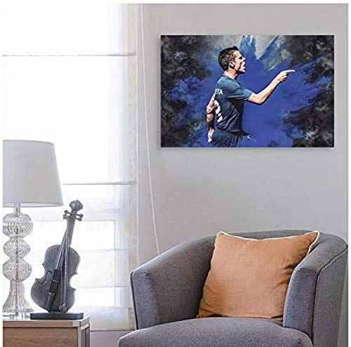 Rzhss César Azpilicueta Impresión Lienzo Pared Arte Decoración Impresiones Para Sala De Estar Hogar Dormitorio Decoración Pintura Decorativa 50X70Cm Sin Marco