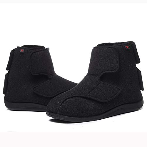 XRDSHY Zapatos De Edema para Mujer, Zapatos Unisex Ajustables para Caminar para Personas Mayores,Black-EU46/280mm