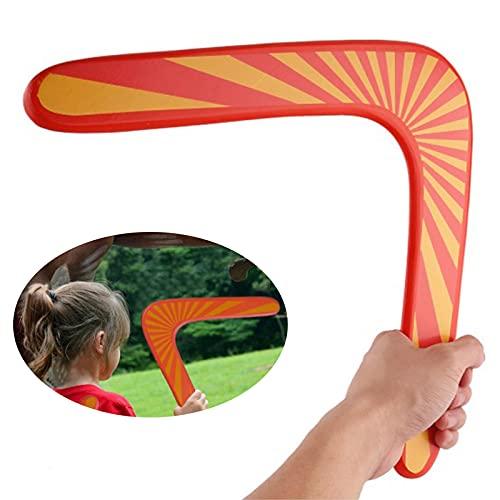 Boomerang Deportes al Aire Libre Boomerang de Madera en Forma de V Boomerang de Madera al Aire Libre de Juego Deportes para Niños Boomerang Juguete Volador de Madera para Deportes al Aire Libre