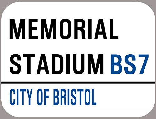 Bristol Rovers Plaque décorative rétro en métal Motif football de football 20,3 x 30,5 cm