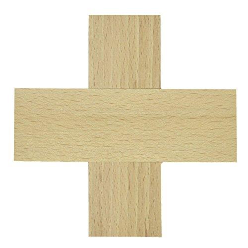Piccolino Bastelbedarf Blanko Wandkreuz Holz - Kreuz gleichschenklig zum Basteln & Bemalen 12x12cm