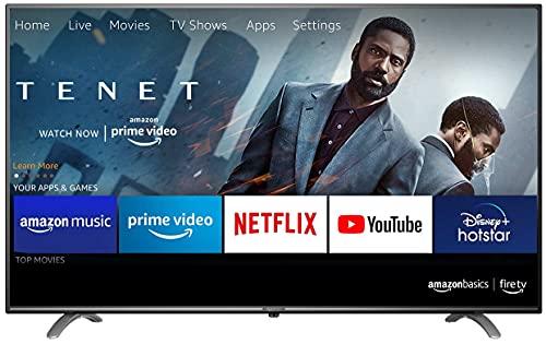 AmazonBasics 127cm (50 inch) Fire TV 4K Ultra HD Smart LED TV AB50U20PS (Black)
