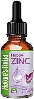 Nature's Nutra Happy Zinc, 2 Fl. Oz (60ml), Premium Baby and Infant Liquid Drops, Toddlers Kids Children Multivitamin Supplement, Antioxidant, High Bioavailability
