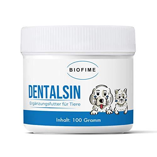 Biofime   Zahnpflege   Zahnstein   für Haustiere (Hund, Katze, Pferd)   weiße Zähne   r,adionisch informiert   100% natürlich (Zahnpflege Pulver)