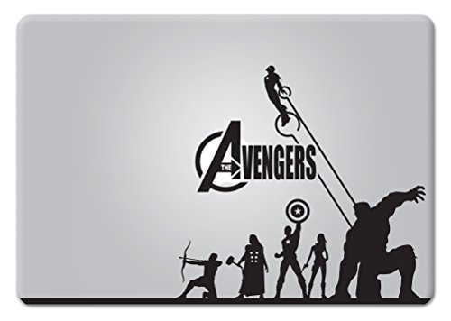 Avengers Die-Cut Vinyl Decal Sticker for MacBook Laptop car Window (Black)