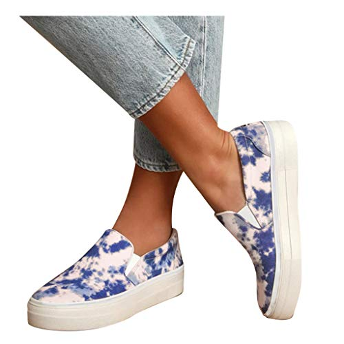 Purchase kaifongfu Womens Canvas Slip On Sneakers Classic Camouflage Loafers Casual Sport Shoes Snea...