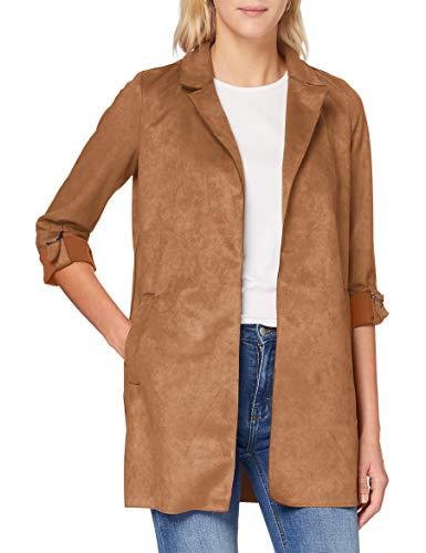 Only ONLJOLINE Faux Suede Coat CC OTW Chaqueta de Cuero sintético, Toasted Coconut, XS para Mujer