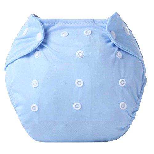 Q4Home Cubierta de Pañal/Pañales Impermeable Ajustable de Natación Reutilizable. Una Talla para Todos. (Azul)