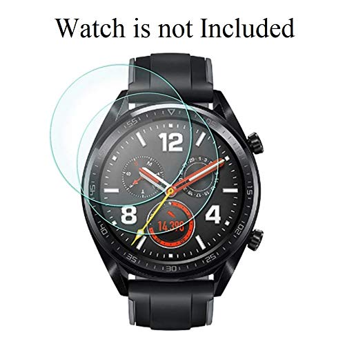 invella Tempered Glass Screen Protector for Huawei Watch GT/GT Active/Huawei Fit MES-B19 Smartwatch (Transparent, Pack of 2)